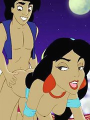 Sexy Princess Jasmine Attacked By Dong And Getting Off